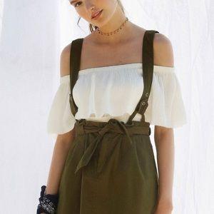 HTF UO | BDG Lizzy Suspender Mini Paperbag Skirt